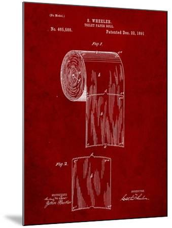 Toilet Paper Patent-Cole Borders-Mounted Art Print