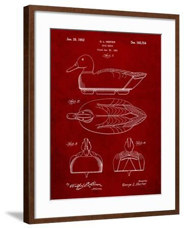 Hunting Duck Decoy Patent-Cole Borders-Framed Art Print