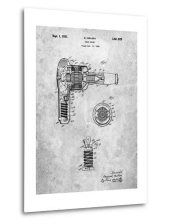 Vintage Hair Dryer Patent-Cole Borders-Metal Print