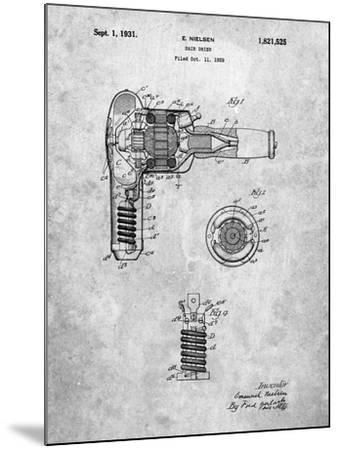 Vintage Hair Dryer Patent-Cole Borders-Mounted Art Print