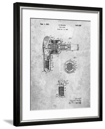 Vintage Hair Dryer Patent-Cole Borders-Framed Art Print