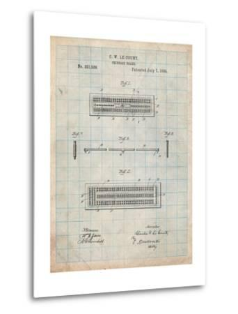 Cribbage Board 1885 Patent-Cole Borders-Metal Print