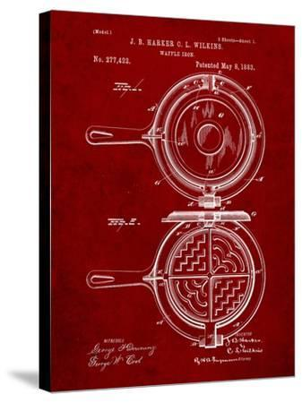 Waffle Iron Patent-Cole Borders-Stretched Canvas Print