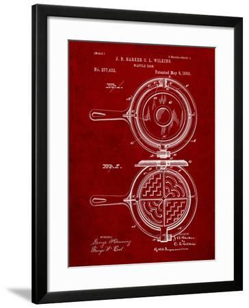 Waffle Iron Patent-Cole Borders-Framed Art Print