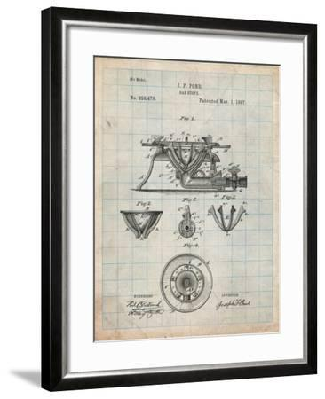 Gas Stove Kitchen Art Patent-Cole Borders-Framed Art Print