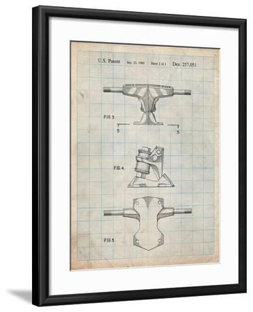 Skateboard Trucks Patent-Cole Borders-Framed Art Print