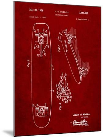 Vintage Skateboard Patent-Cole Borders-Mounted Art Print