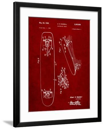 Vintage Skateboard Patent-Cole Borders-Framed Art Print