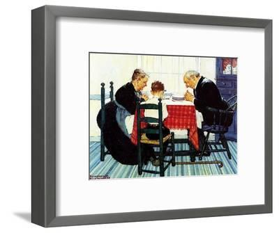 Rural Vacation (or Family Grace)-Norman Rockwell-Framed Giclee Print