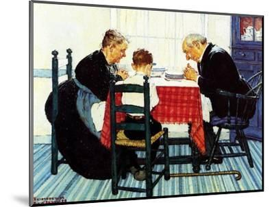 Rural Vacation (or Family Grace)-Norman Rockwell-Mounted Giclee Print