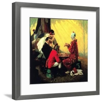Checkers-Norman Rockwell-Framed Giclee Print