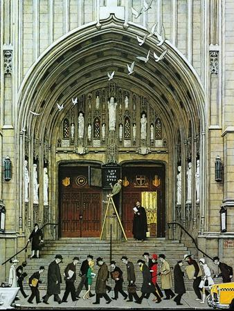Lift Up Thine Eyes-Norman Rockwell-Giclee Print
