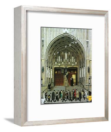 Lift Up Thine Eyes-Norman Rockwell-Framed Giclee Print