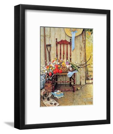 Norman Rockwell Print Still Life SPRING FLOWERS