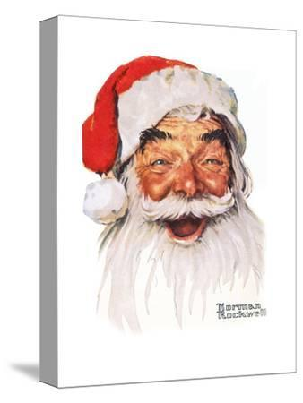 Santa Claus-Norman Rockwell-Stretched Canvas Print