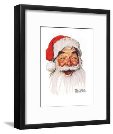 Santa Claus-Norman Rockwell-Framed Giclee Print