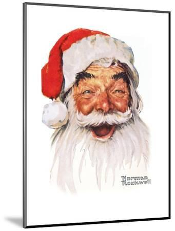 Santa Claus-Norman Rockwell-Mounted Giclee Print