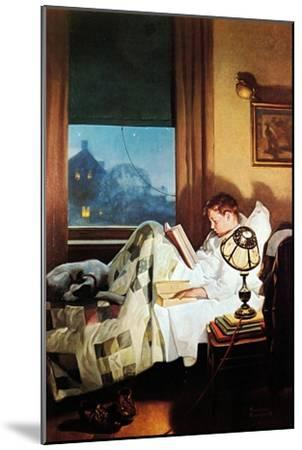 And Every Lad May Be Aladdin (or Reading in Bed)-Norman Rockwell-Mounted Giclee Print