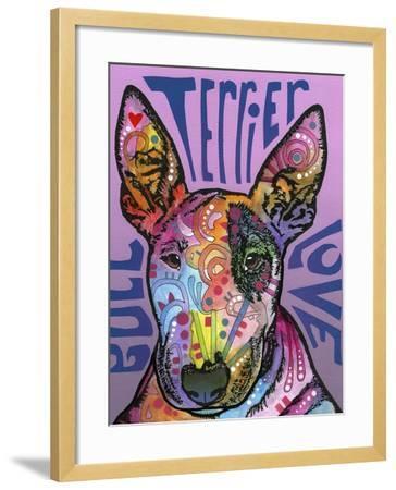 Bull Terrier Luv-Dean Russo-Framed Giclee Print