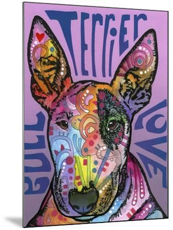 Bull Terrier Luv-Dean Russo-Mounted Giclee Print
