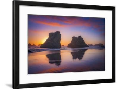Bandon Sunset-Darren White Photography-Framed Photographic Print