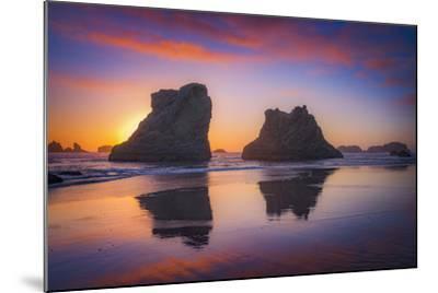 Bandon Sunset-Darren White Photography-Mounted Photographic Print