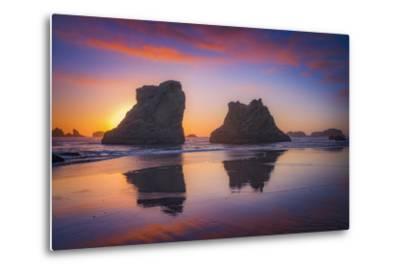 Bandon Sunset-Darren White Photography-Metal Print