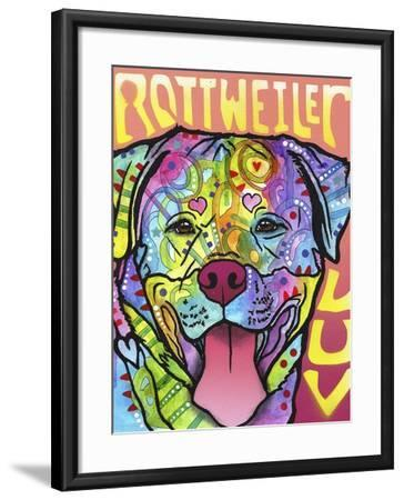 Rottweiler Luv-Dean Russo-Framed Giclee Print