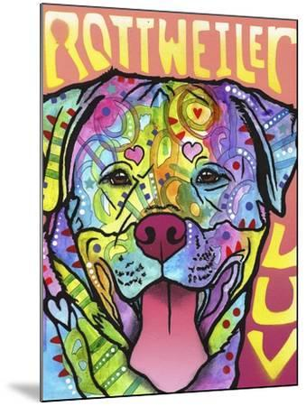 Rottweiler Luv-Dean Russo-Mounted Giclee Print
