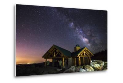 Mount Evans Visitor Cabin-Darren White Photography-Metal Print