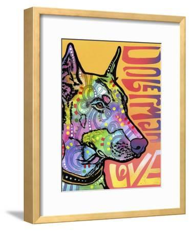Doberman Luv-Dean Russo-Framed Giclee Print