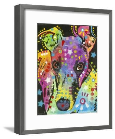 Curious Greyhound-Dean Russo-Framed Giclee Print