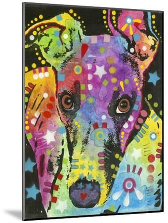 Curious Greyhound-Dean Russo-Mounted Giclee Print