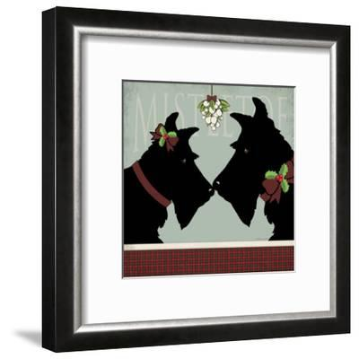 Scottie Mistletoe-Stephanie Marrott-Framed Giclee Print