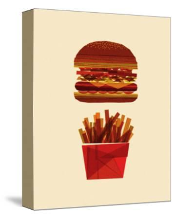 Burger and Fries-Greg Mably-Stretched Canvas Print