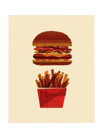 Burger and Fries-Greg Mably-Art Print