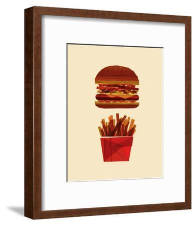 Burger and Fries-Greg Mably-Framed Art Print