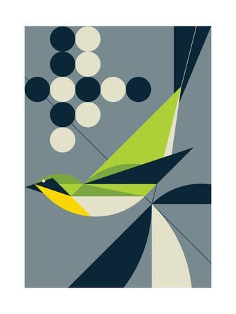 Warbler-Greg Mably-Art Print