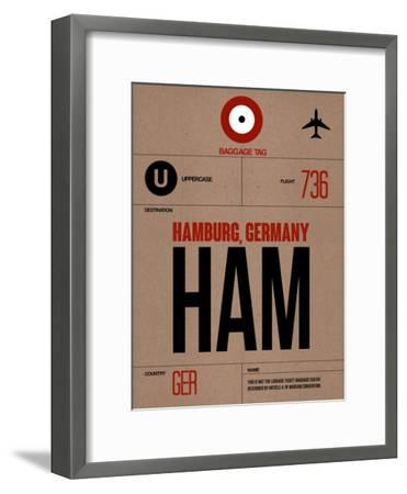 HAM Hamburg Luggage Tag 1-NaxArt-Framed Art Print