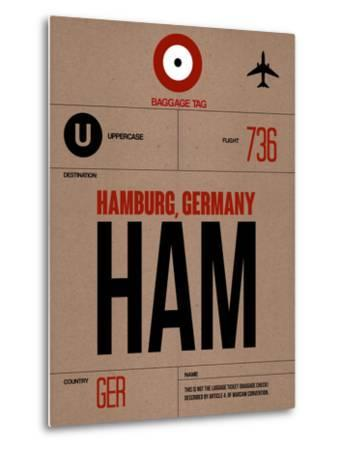 HAM Hamburg Luggage Tag 1-NaxArt-Metal Print