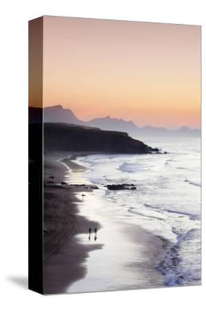 View from Playa Del Viejo to the Peninsula of Jandia-Markus Lange-Stretched Canvas Print