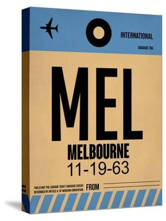 MEL Melbourne Luggage Tag 1-NaxArt-Stretched Canvas Print