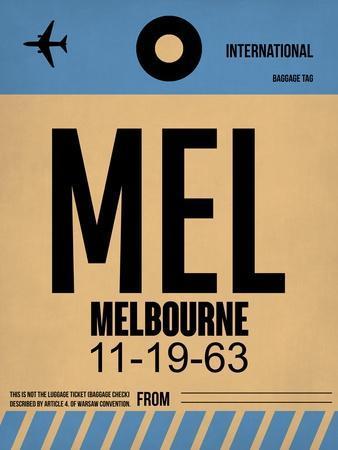 MEL Melbourne Luggage Tag 1-NaxArt-Art Print