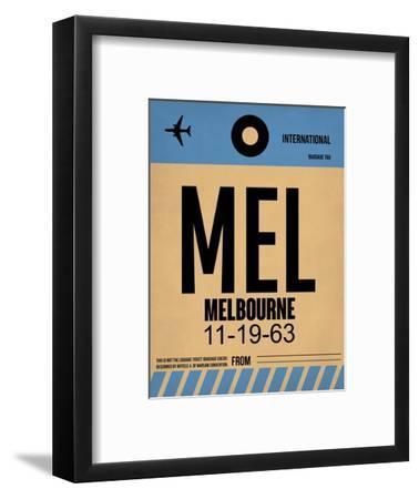 MEL Melbourne Luggage Tag 1-NaxArt-Framed Art Print