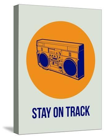 Stay on Track Boombox 1-NaxArt-Stretched Canvas Print