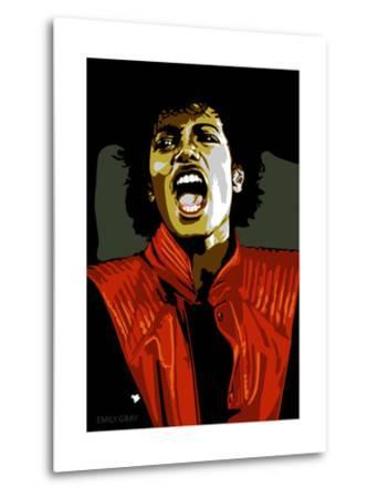 Michael Jackson - Thiller-Emily Gray-Metal Print
