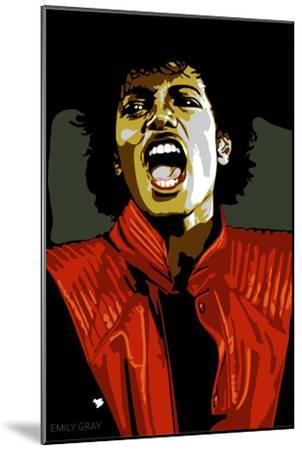 Michael Jackson - Thiller-Emily Gray-Mounted Art Print