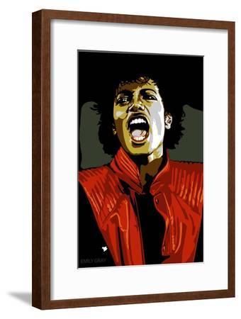 Michael Jackson - Thiller-Emily Gray-Framed Art Print
