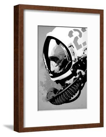 Astro Bear-Hidden Moves-Framed Art Print