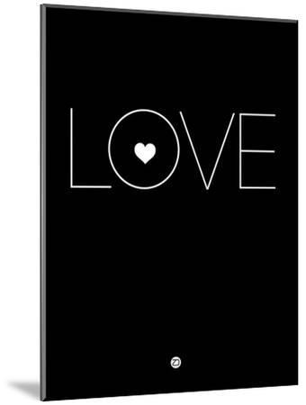 Love Black-NaxArt-Mounted Art Print